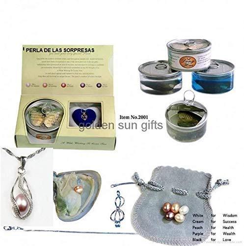 Loeve, ciondolo con gabbia a forma di cuore con perla in ostrica naturale, per San Valentino