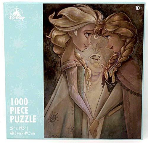 Disney Parks Frozen Anna, Elsa and Olaf by Darren Wilson 1000 Piece Jigsaw Puzzle