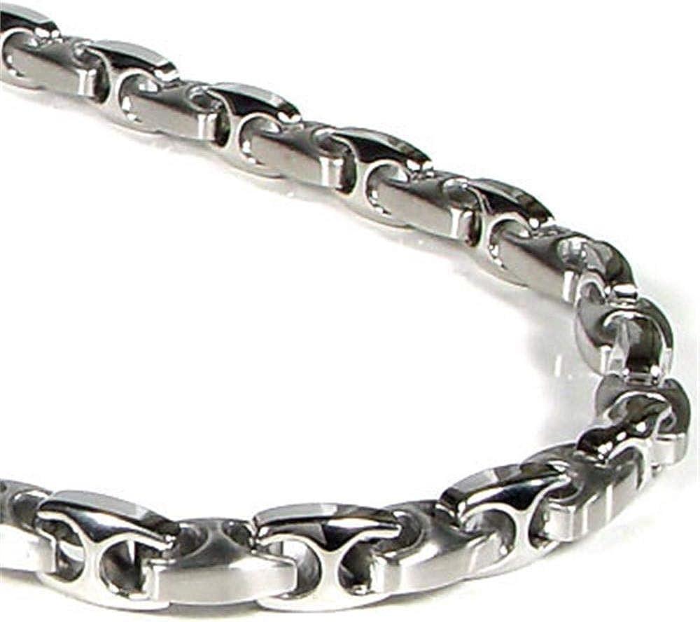 Titanium 市販 Kay 送料無料 Nitrogen Stainless Steel Chain Necklace Men's Link