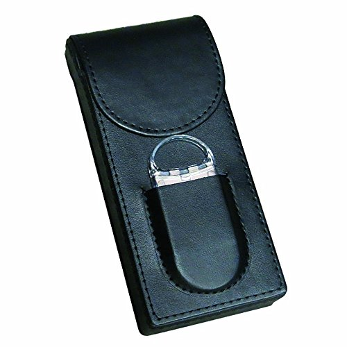 Prestige Import Group - Flip Top Magnetic Closure 3 Cigar Case w/Cutter - Color Black