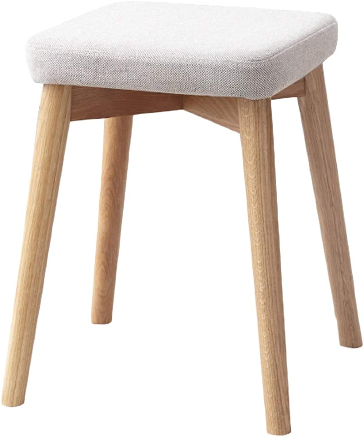 AGLZWY Dining Chair Multipurpose Solid Wood Removable and Washable Space Saving Fashion Non-Slip Makeup Stool Square Stool Living Room,2 Colours (color   A, Size   32X32X44cm)