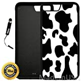 Custom iPhone 8 Plus Case (Cow Print) Edge-to-Edge Rubber Black Cover Ultra Slim | Lightweight | Includes Stylus Pen by Innosub