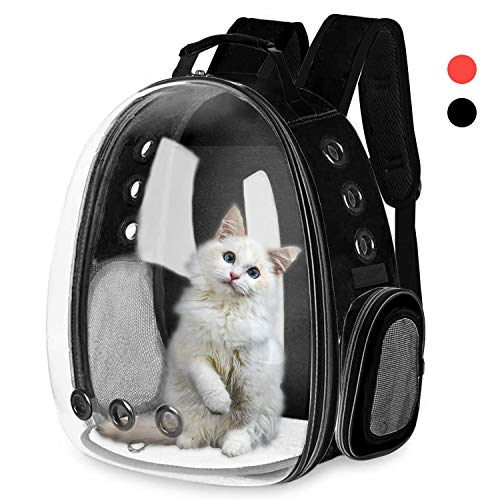 AOPUTTRIVER Cat Backpack Carrier, Bubble Backpack Carrier, Small Dog Backpack Carrier, Space Capsule Pet Carrier, Airline Approved Travel Carrier, Designed for Travel, Hiking & Outdoor Use-Black