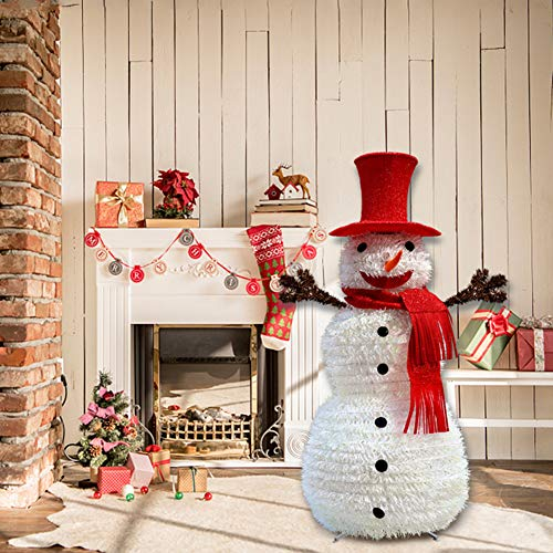 LIPETLI Boutique Navidad MuñEco de Nieve DecoracióN NavideñA DecoracióN RetráCtil Plegable MuñEco de Nieve MáS Loco