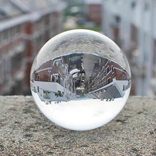 Rosepoem Bola de Cristal con Cristal para Feng Shui/Adivinación o Decoración de Boda/Hogar/Oficina