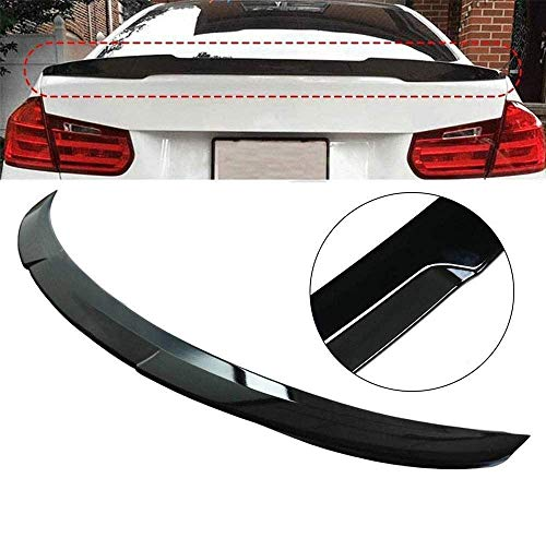 YUMTOL 1Pcs Gloss Black Suitcase Spoiler Wings Boot Spoiler Lips Accessories Car Styling Fit For Bmw 3 Series F30 F80 V-Type 12-18 Auto Parts Lip Spoiler Strips