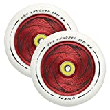 Fuzion Pro Scooter Wheels 110mm Hollow Core Stunt Scooter Sig Wheels with ABEC - 9 Bearings Pair (Hollowcore Marker Wheel -...