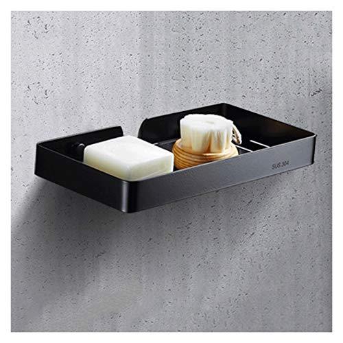 Jabonera El jabonero de acero inoxidable, el estante de drenaje de jabón de gran capacidad en el baño, la bandeja de jabón de alta gama, el punzón libre puede usarse como un regalo para los amigos Ban