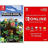 Minecraft (Nintendo Switch) + Nintendo Switch Online - 12 Meses (Código de descarga)