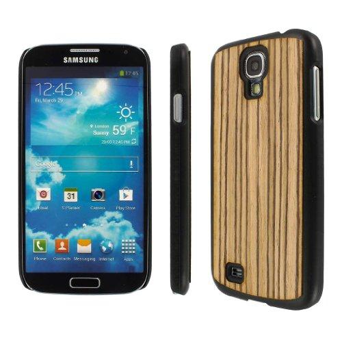 Empire Mpero Embark - Cover con Inserto in Legno Riciclato (zebrano) per Samsung Galaxy S4 I9500/I905/L720/I337/I545/M919/R970