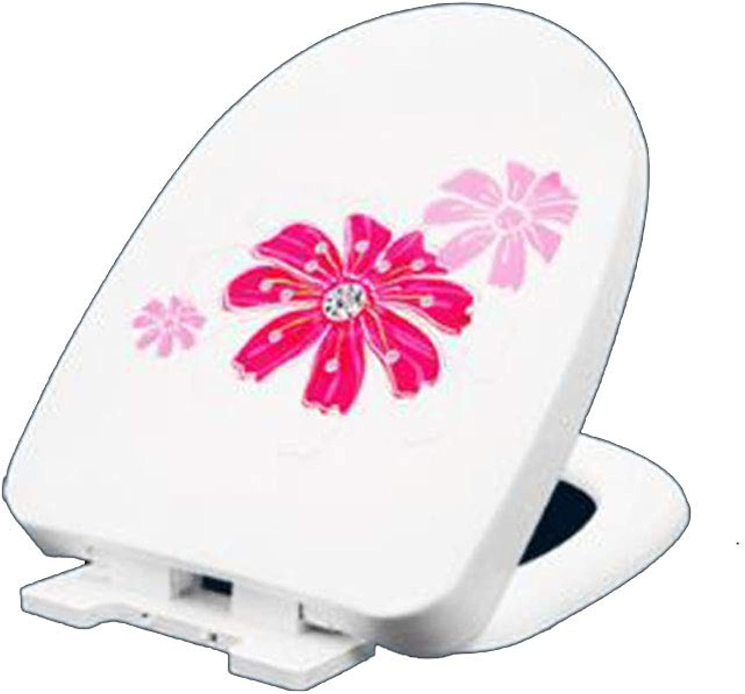 VU type toilet seat Thickening descending toilet seat Easy to wash and wash