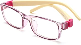 إطار نظارات ذراع مربع فائق المرونة للأطفال من FNEONKids للبنات والأولاد والأطفال الصغار