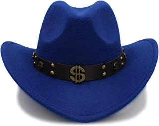 Bin Zhang Winter Mens Women Wool Felt Cowboy Hats With Leather Band Chapeu Masculino