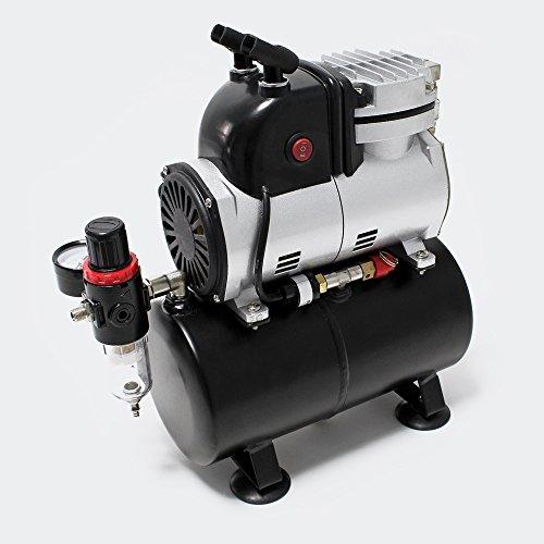 Compresor AF189 para aerografía con tanque de aire separador de agua y reductor de presión