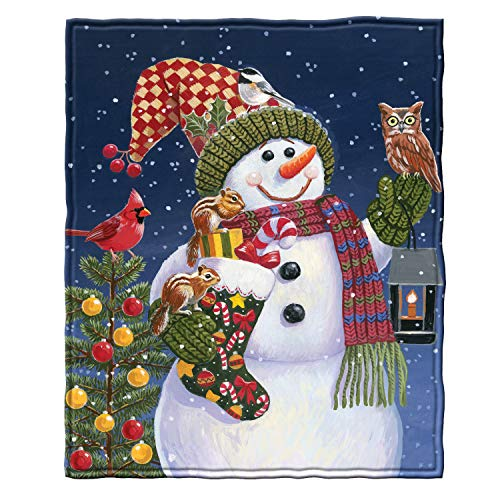 Snowman and Friends Super Soft Plush Fleece Throw Blanket