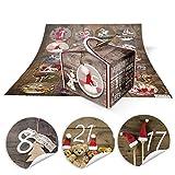 DIY Adventskalender Weihnachten Bastel-Set: 24 kleine braune VINTAGE Engel Mini-Schachteln Boxen 8 x...