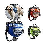 Bolso de la Silla de Montar de la Mochila de Las alforjas del Perro casero del Animal doméstico para Caminar Que acampa del Viaje (Color : Azul, Size : M)