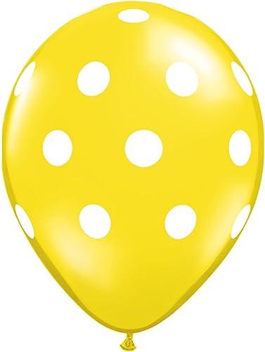 muy popular Pioneer Balloon Company globo de látex con lunares lunares lunares grandes, de 50 unidades, 11, amarillo citrino por Pioneer Balloon Company  seguro de calidad