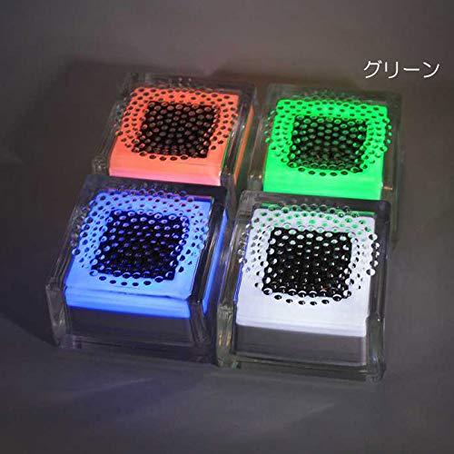 屋外照明 ソーラーライト LED 照明 埋込 駐車場 ライト 外灯 ガラスソーラータイル クリペ 100角タイプ グリーン 誘導灯 照明器具 おしゃれ