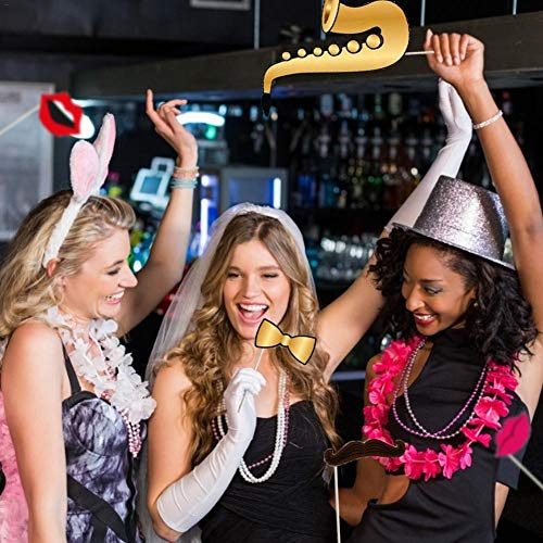 Navigatee Foto Requisiten Unter Dem Motto DIY Photo Booth Kreative Lustige Glitzer Foto Requisiten Für Hochzeit, Geburtstagsfeier Oder Hollywood Party - 25 PCS Tremendous Reliable