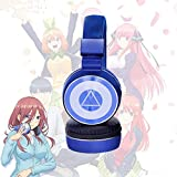 damdos Headphone The Quintessential Quintuplets Cosplay Nakano Miku Bluetooth Headsets Headphone Earphone