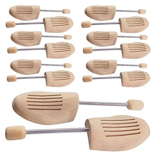 5 PAAR Holz Schuhspanner Herrenschuhe Damenschuhe Gr. 36/37, 38/39, 40/41, 42/43, 44/45, 46/48 Holzspanner Schuhe (42/43)