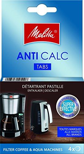 Melitta 105106 Anti Calc Filter Kaffee und Aqua-Maschinen, 4 x 12 g
