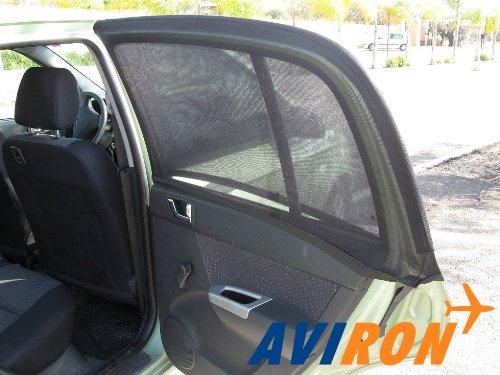 2 nouveaux Petite rectangulaire Pare-soleil pour fenêtre de voiture Siège écran solaire/Nuances/Sox- Imprimé Noir en maille