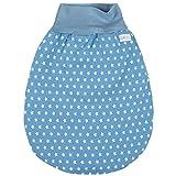 Lilakind Schlafsack Strampelsack Pucksack Frühling/Sommer Sterne Jeansblau Weiß 0-6 M