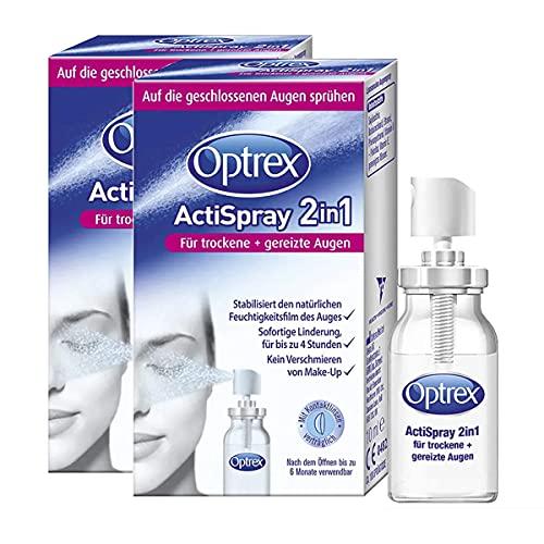Optrex ActiSpray 2in1 Liposomales Augenspray für trockene & gereizte Augen, auch bei Kontaktlinsen, 2x 10ml