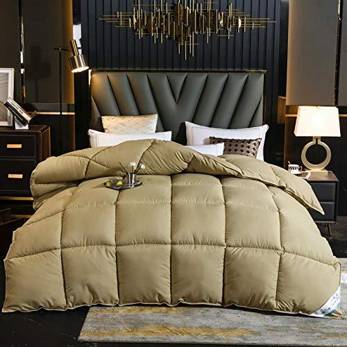 CHOU DAN colchas edredones,Winter Duvet Single,Winter Duvet Double White Duvet Suitable for All Seasons, Hypoallergenic, freestanding Quilt 180x220cm 4000g