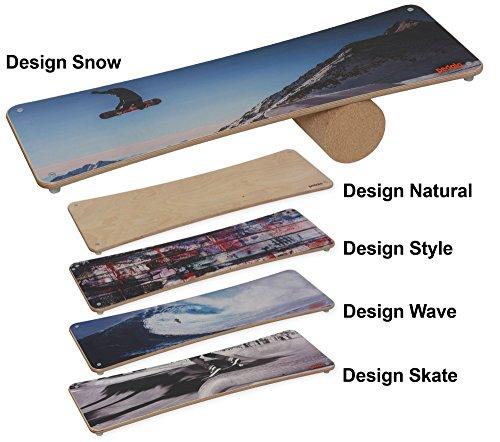pedalo® Rola-Bola Design I Natural I Style I Wave I Snow I Skate I Gleichgewichtstrainer I Balance Board I Koordination I Fun-Sport (Natural)