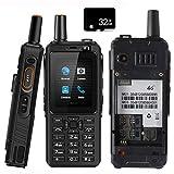 Unlocked 4G LTE Walkie Talkie Radio bidireccional Impermeable Resistente PTT de Android Teclado para Exteriores Antipolvo Antigolpes Teléfono móvil, Zello, Dual Sim, GPS, WiFi, Bluetooth