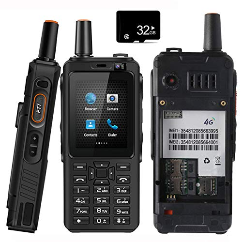 Unlocked 4G Network Smart Phone Walkie Talkie,Android Rugged Waterproof Two-Way Radio PTT Outdoor Keyboard Dustproof Shockproof Mobile Cell Phone,Zello, Dual Sim, GPS, WiFi, Bluetooth