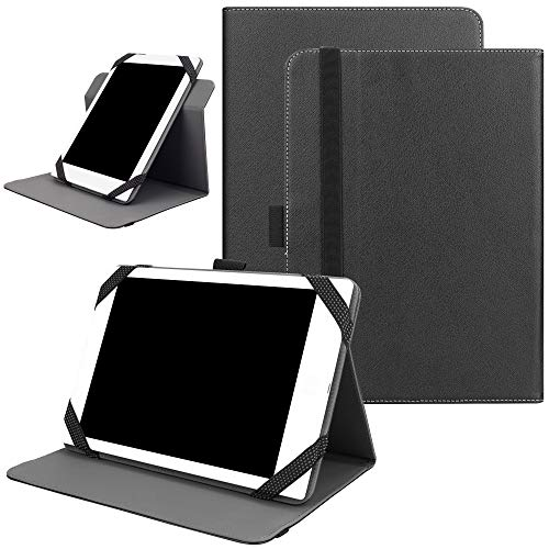 KuRoKo Universal 360 Rotating Case for 7-8 inch Tablet, Stand Folio Universal Tablet Case Protective Cover for 7' 8' Tablet(Samsung Asus Acer Google Lenovo iPad etc) (Black)