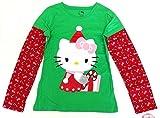 Hello Kitty Camiseta de manga larga de Navidad 170/176 para niña con diseño de gato, talla XL 14/16