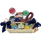 Polizist / Polizei Geschenk-Korb Präsentkorb (6095) mit deftigen Delikatessen und Süßigkeiten, antistress Polizei-Figur Knautschi SQUEEZIES®