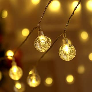 WOTM Globe String Lights for Bedroom, 8 Modes Plug in Decorative Lights, Waterproof Fairy String Lights for Patio, Indoor,...