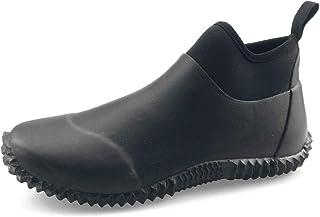 SYLPHID Unisex Waterproof Garden Shoes Womens Neoprene Rain Boots Mens Car Wash Footwear