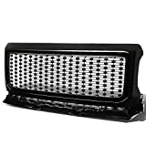 Replacement for GMC Canyon ABS Denali Style Front Bumper/Hood Grille/Grill (Black)