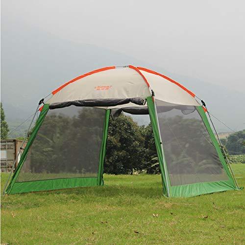 Qazwsxedc Outdoor pergola canopy tent awning large outdoor park people rain UV shade with rain cover,blue inner no struct