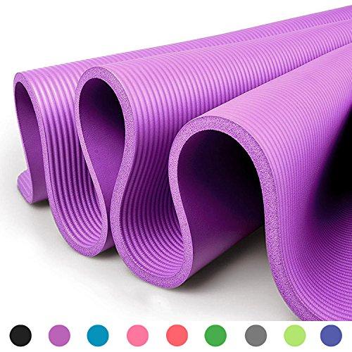 Glamexx24 Tappetino Spesso e Morbido per Il Fitness, Pilates, Ginnastica e Yoga 190x100x1.50 cm Fucsia