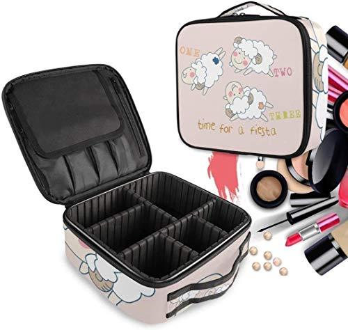 Cosmétique HZYDD Cartoon Sheep Blanc Make Up Sac Trousse de Toilette Zipper Sacs de Maquillage Organisateur Pouch for Compartiment Femmes Filles Gratuit