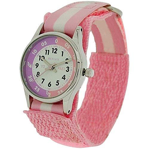 Reflex Mädchen Analog Quarz Uhr mit Stoff Armband REFK0005