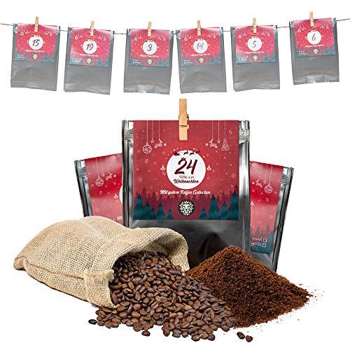 Premium Kaffee Adventskalender 2021 - Mit Liebe geröstet von Menschen mit Behinderung | Kaffee Geschenk für Männer und Frauen | fair | 24 x 30 g Kaffeebohnen im Weihnachtskalender
