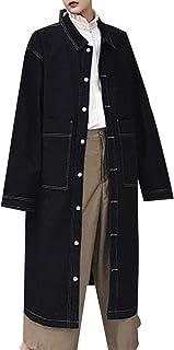XINHEO Men Hiking Vintage Slim Casual Single Breasted Denim Jacket