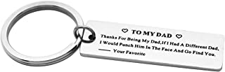 Thanks For Being My Dad/Mom Funny Keychain Best Dad Father's Day Gifts For Him From Daughter Son