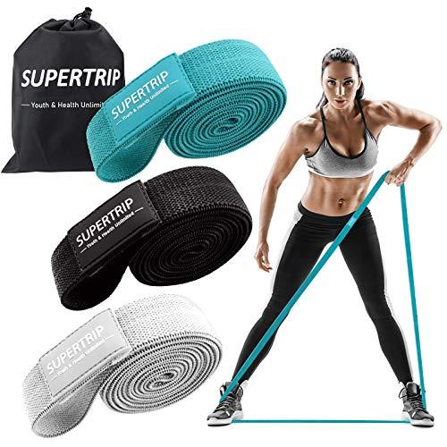 Supertrip Bandas Elasticas Fitness de Tela Larga-Bandas Elasticas Musculacion para...