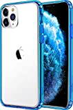 Mkeke Compatible with iPhone 11 Pro Max Case, Clear iPhone 11 Pro Max Cover Shock Absorption Phone Cases 6.5 inch -Blue