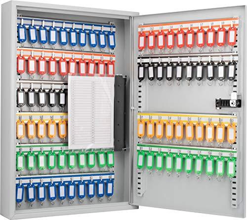 Winbest Steel 100 Key Safe Wall Mount Cabinet Storage Key Lock Safe Box with Combo Lock